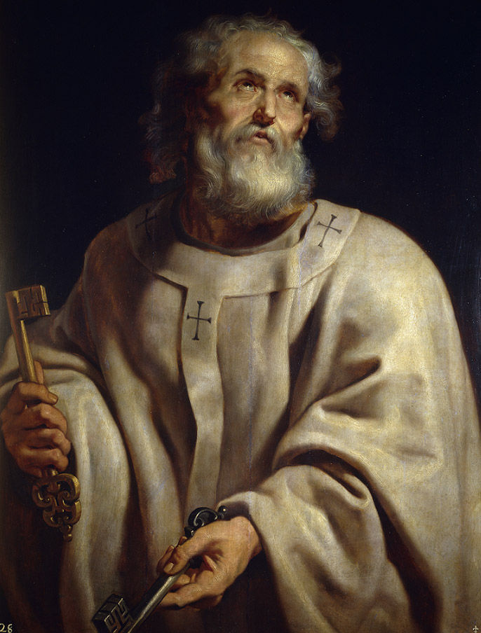 Church - Peter as Pope (Peter Paul Rubens)