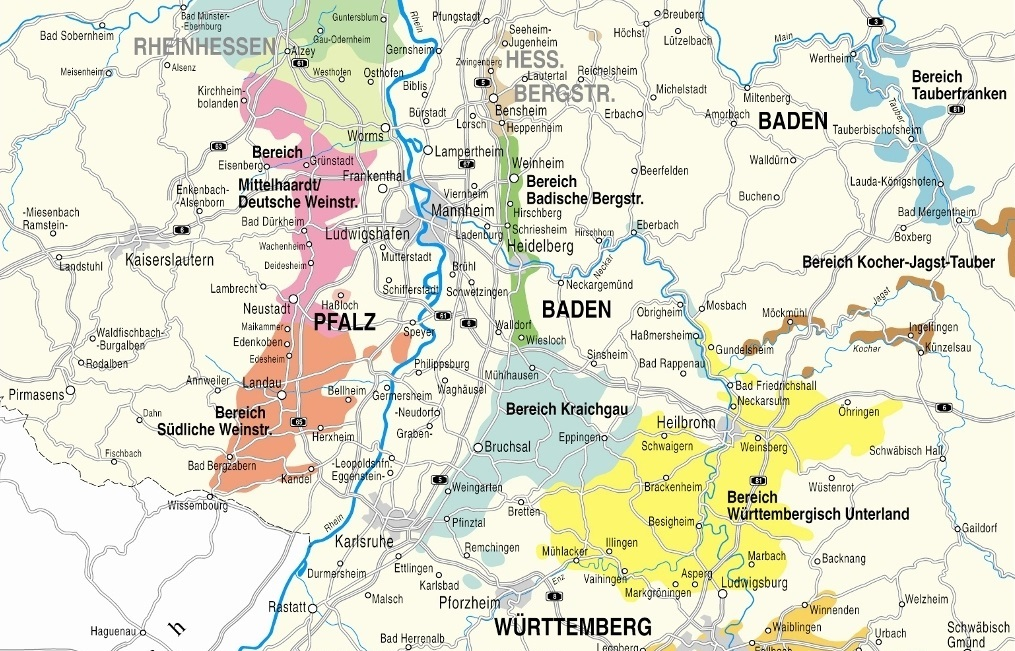 Map of the Pfalz region