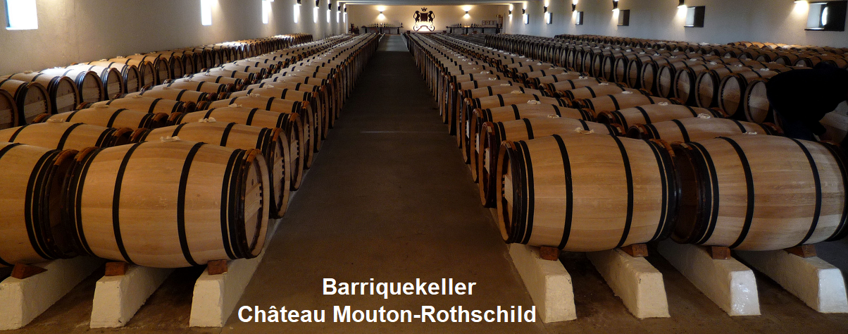 Barrique cellar from Château Mouton-Rothschild
