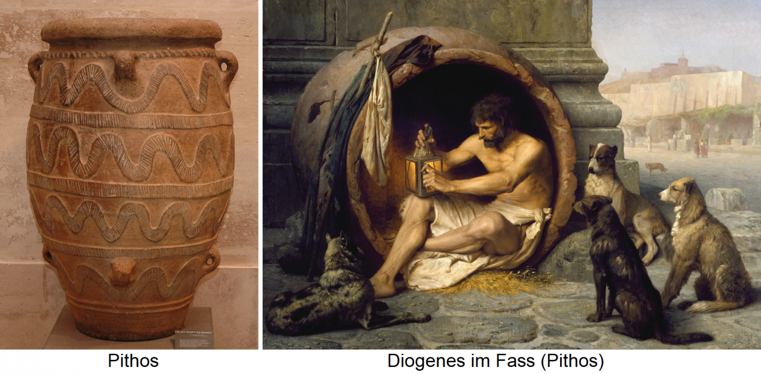 Pithos / Diogenes in barrel (Pithos)
