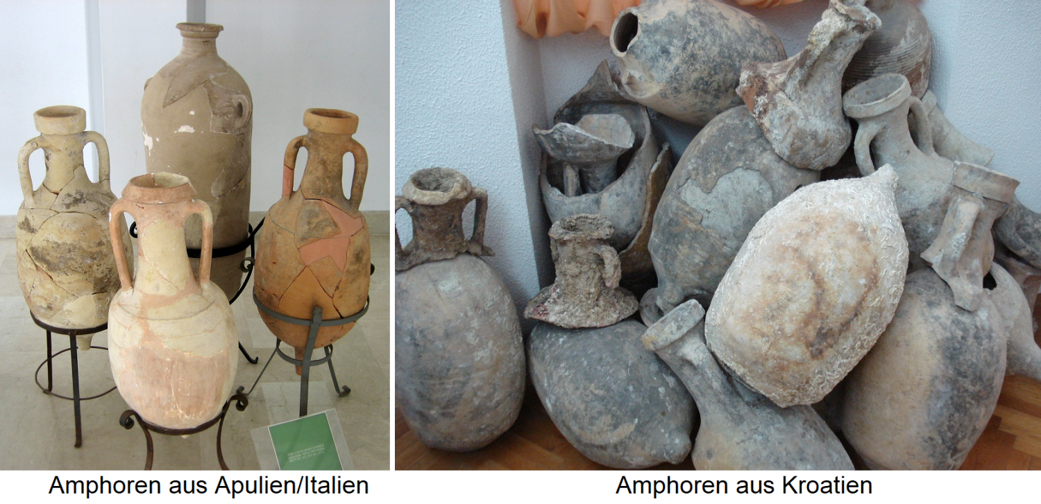 Amphora finds from Apulia / Italy and Croatia