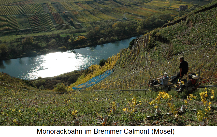Monorack track in Bremmer Calmont (Mosel)