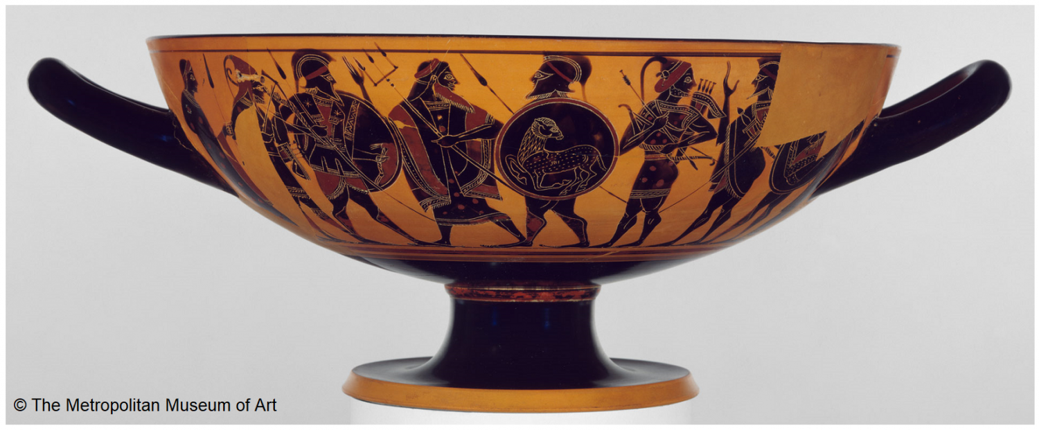 Kylix - drinking bowl from ancient Greece
