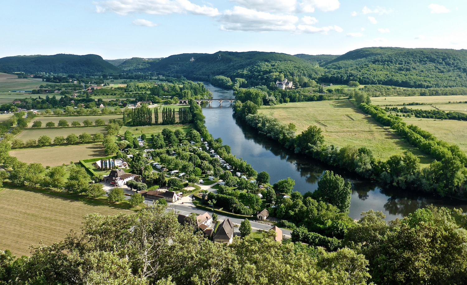 River Dordogne in the department of the same name
