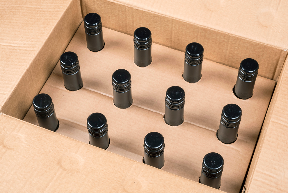 Box - wine box with 12 bottles