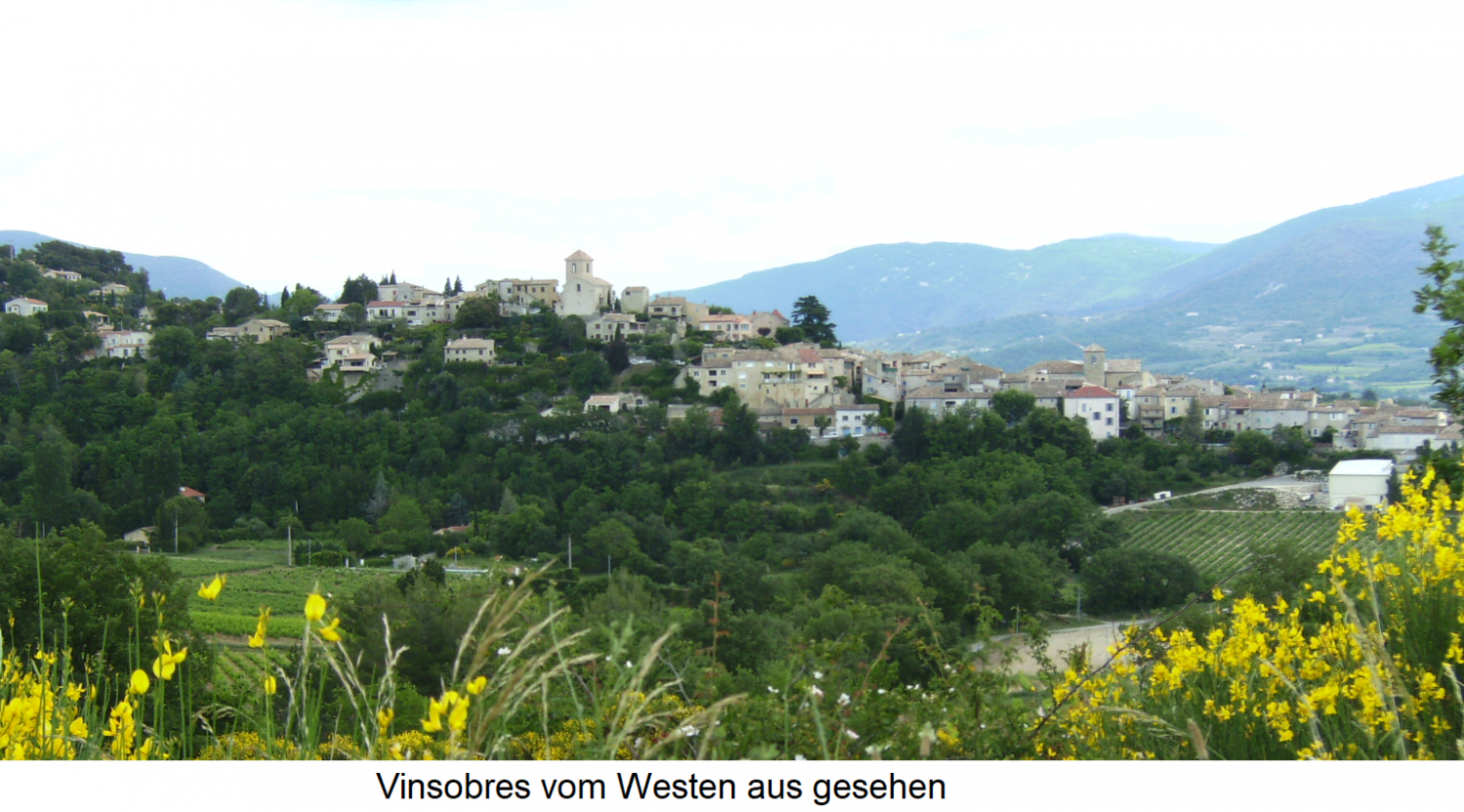 Vinsobres seen from the west