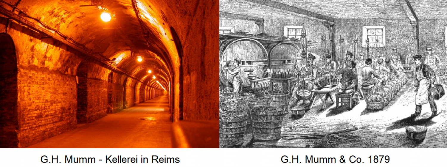 G. H. Mumm Champagne - Winery Reims / Production 1879
